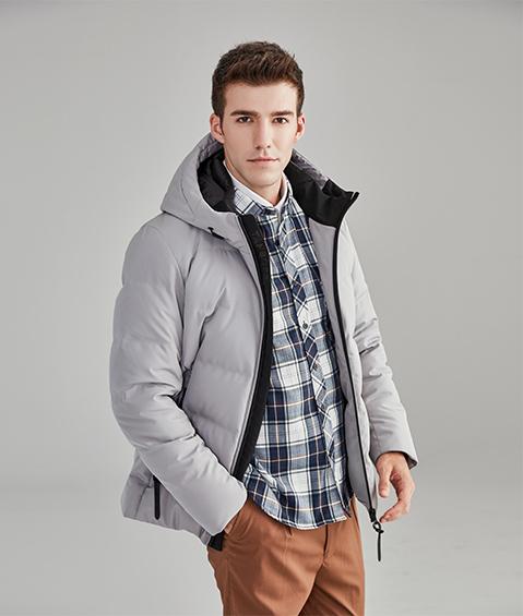 AAAA15 Mens Urban Basic Hoodie Short Down Jacket