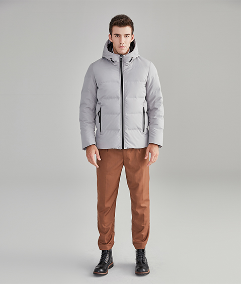 AAAA18803 1 Mens Urban Basic Hoodie Short Down Jacket 1