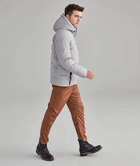 AAAA18836 1 Mens Urban Basic Hoodie Short Down Jacket 1