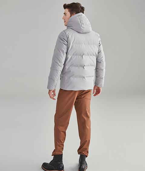 AAAA18842 1 Mens Urban Basic Hoodie Short Down Jacket 1