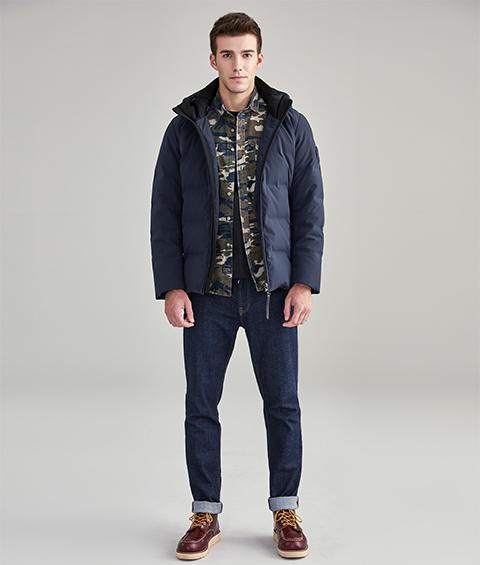 AAAA20145 1 Mens Urban Basic Hoodie Short Down Jacket