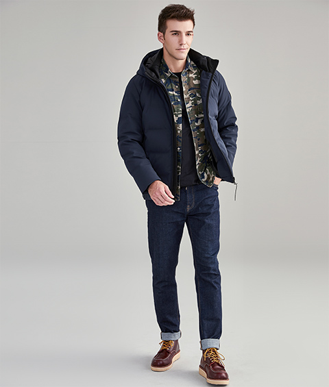 AAAA20161 1 Mens Urban Basic Hoodie Short Down Jacket