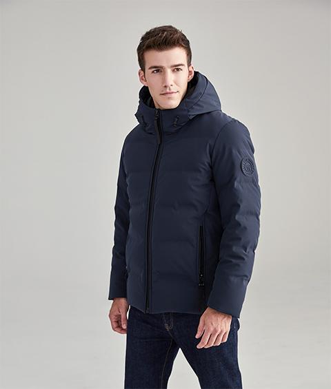 AAAA20220 11 Mens Urban Basic Hoodie Short Down Jacket