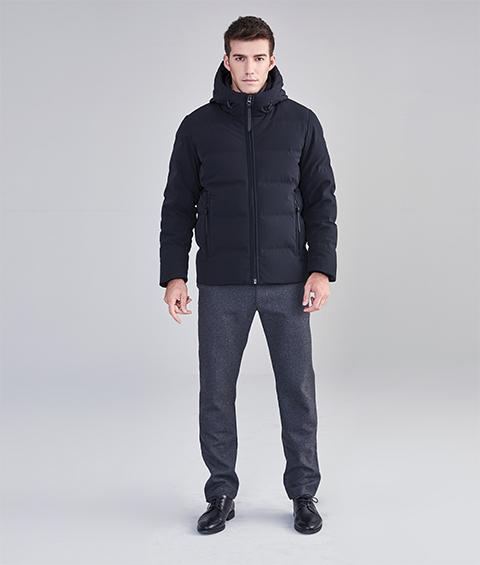 AAAA22891 1 Mens Urban Basic Hoodie Short Down Jacket