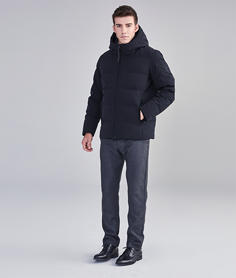 AAAA22900 1 Mens Urban Basic Hoodie Short Down Jacket