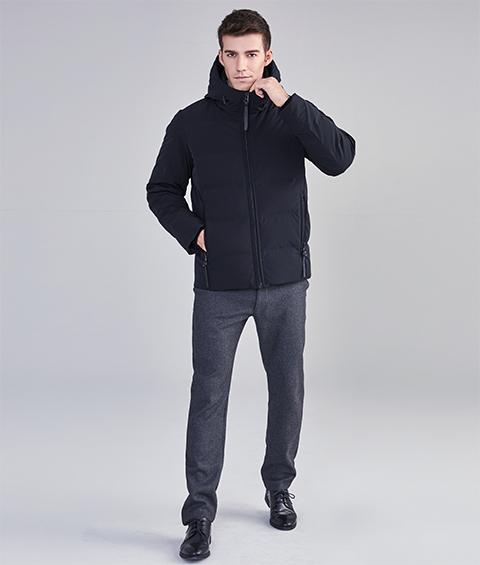 AAAA22909 1 Mens Urban Basic Hoodie Short Down Jacket