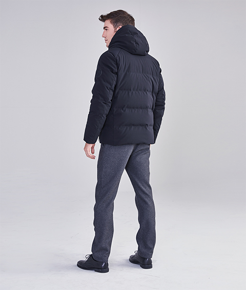 AAAA22913 1 Mens Urban Basic Hoodie Short Down Jacket