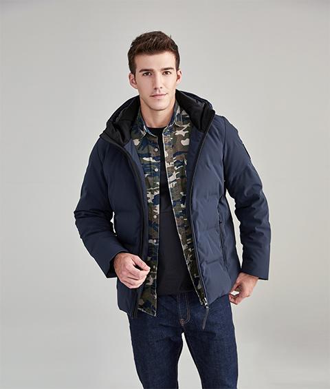 AAAA33 Mens Urban Basic Hoodie Short Down Jacket 1