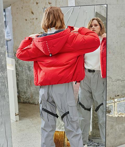 AAAA4F4A4554 1 Womens Sports Basic Hoodie Short Down Jacket 2