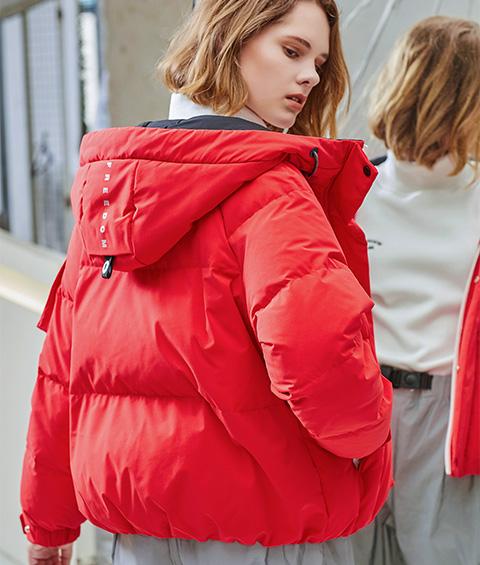 AAAA4F4A4554 1 Womens Sports Basic Hoodie Short Down Jacket 3