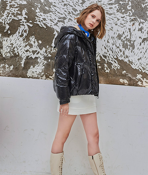 AAAA4F4A5613 1 Womens Sports Basic Hoodie Short Down Jacket 5