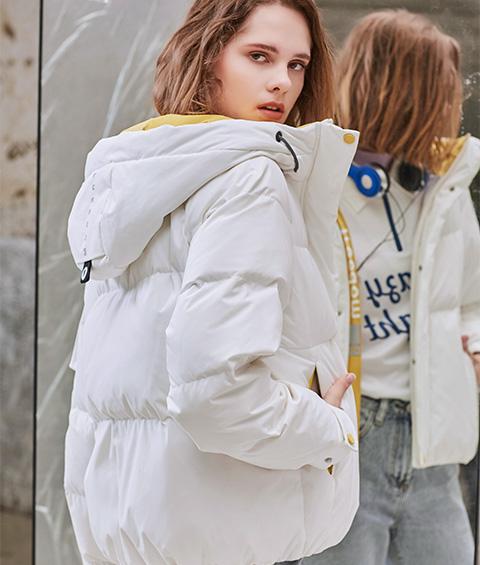 AAAA4F4A6152 1 Womens Sports Basic Hoodie Short Down Jacket 2
