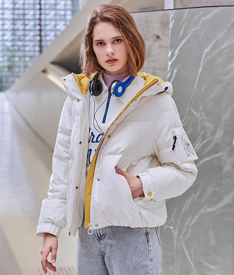 AAAA4F4A6152 1 Womens Sports Basic Hoodie Short Down Jacket 4