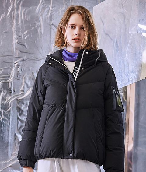 AAAA4F4A6839 1 Womens Sports Basic Hoodie Short Down Jacket 2