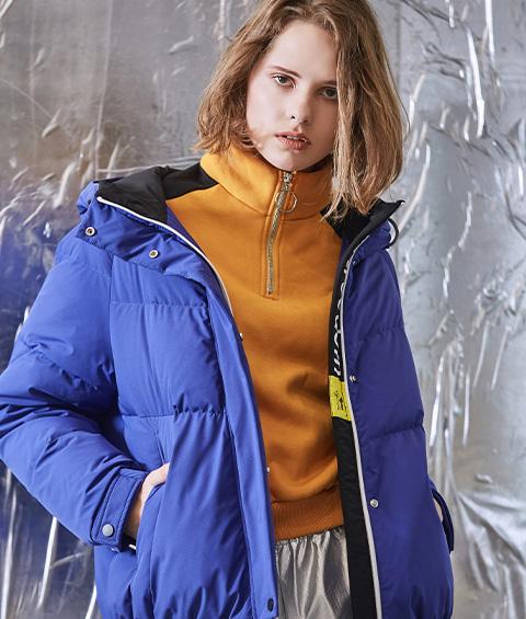 AAAA4F4A6953 1 Womens Sports Basic Hoodie Short Down Jacket 3