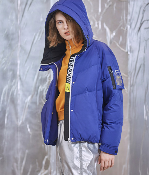 AAAA4F4A6953 1 Womens Sports Basic Hoodie Short Down Jacket 4