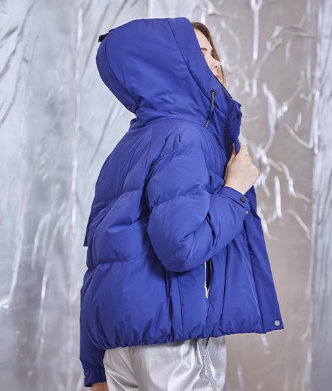 AAAA4F4A6953 1 Womens Sports Basic Hoodie Short Down Jacket 5