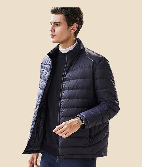 AAAATA19281 Mens Stand Collar Waterproof Lightweight Down Jacket 3