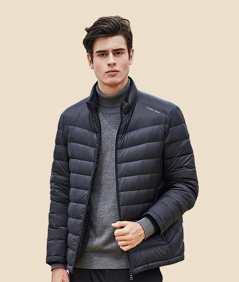 AAAATA19281 Mens Stand Collar Waterproof Lightweight Down Jacket 4