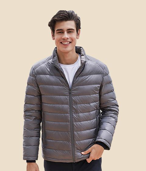 AAAATA19281 Mens Stand Collar Waterproof Lightweight Down Jacket 6